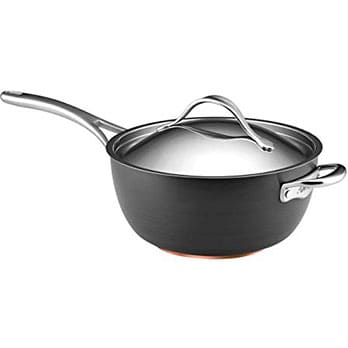 1. Anolon Nouvelle Anodized Nonstick Saucier - Best budget-friendly saucier