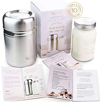Country Trading Stainless Steel Yogurt Maker - Best for personal use