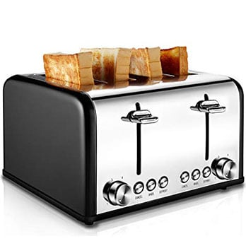 CUISIBOX Stainless Steel Toaster - Best four-slice toaster