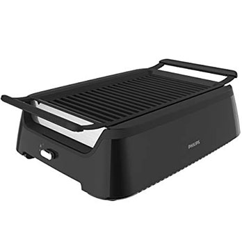 Philips Smokeless Indoor BBQ Grill - Best fat reduction contact grill