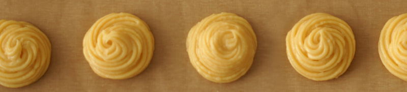 Teflon sheets for easy baking choux pastry recipe